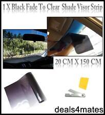 Black Clear Sun Strip Fade Visor auto Windscreen Tinting Tint Film