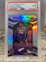 2019 Donruss Elite Primary Colors #7 LeBron James Los Angeles Lakers PSA 9 MINT
