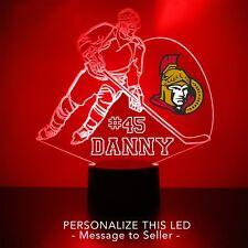 Ottawa Senators Night Light Personalized FREE NHL Hockey Light Up LED Light