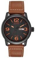 Citizen Eco-Drive Men's Chandler Quartz Brown Leather 42mm Watch BM8475-26E