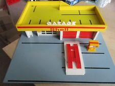 SHELL Modellauto Garage Tankstelle Holz Plastik 60er 70er Jahre 50x50 cm
