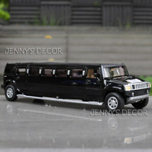 1:32 Diecast Car Model Toy Hummer H2 Stretch Limousine Pull Back Replica Hot