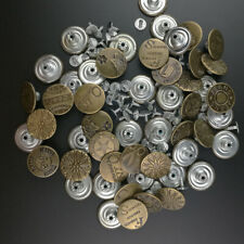 50pcs Lot Jeans Denim Vintage Bronze Buttons Metal Sewing 20mm Mixed Hammer Stud