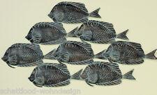 Decoración de pared XXL objeto Pescado peces Cardumen länge110 cm Metal MARÍTIMO