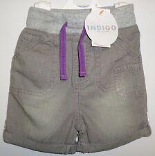 bambine Pantaloncini età 12-18 Mesi Nuovo M&S Grigio Light Denim Jersey di
