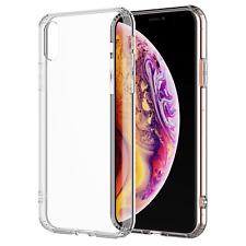 For iPhone XS Max Clear Transparent Case Shock Absorption TPU Bumpers Hard Back