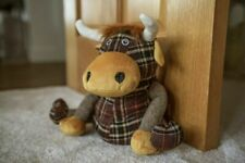 Highland Cow Fabric Door Stopper Tartan Home Decor Weighted Wedge Stop Novelty
