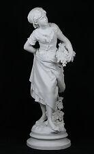 Antique MATHURIN MOREAU (1822-1912) Parian Bisque Porcelain Sculpture Signed