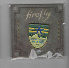 BADGE Serenity Valley Vet enamelled sealed Firefly  LootCrate #12 Mal Reynolds