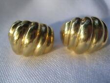 Beautiful Shell-Shaped Gold-Tone Earrings, Screw Backs