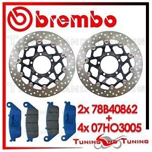Dischi Freno Anteriori BREMBO + Pastiglie CC TRIUMPH STREET TRIPLE 675 2007 2008