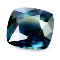 Certified 2.28ct Natural Unheated Sapphire Untreated Greenish Blue VS Cushion