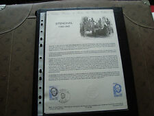 FRANCE - document officiel 1er jour 12/11/1983 (stendhal) french