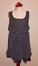 rue21 Black Polka Dot Sleeveless Dress Women's Size L Large