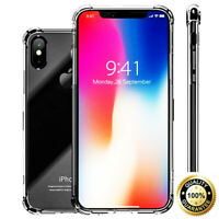 Apple iPhone 11 Pro XS Max XR X 8 7 6s Clear Case Shockproof Hybrid Bumper Cover