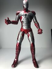 Hot Toys Iron Man 2 Mark V 5  MMS145 Action Figure (Not Die Cast) Used Marvel