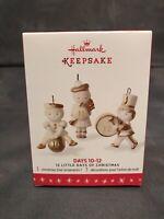 Hallmark Keepsake 2016 12 Little Days Of Christmas Days 10-12 Porcelain Ornament