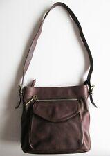 Vintage Fossil Brown Leather Handbag Shoulder Bag No. 75082
