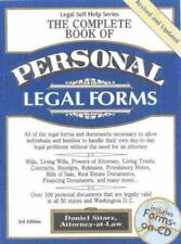 The Complete Book of Personal Legal Forms-ExLibrary