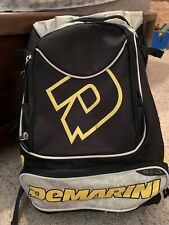 DeMarini Baseball Bag. 2 side bat holders. 4 compartments. Great Condition