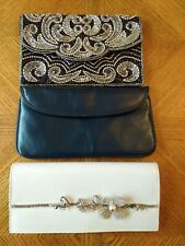 3 x clutch bags Diamante - Jane Shilton & white Faith bag