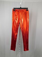 Girl's Metallic Shiny Red Halloween Costume Pants - Child Medium #8364