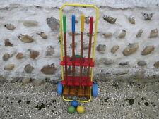Ancien jeu pour enfant de croquet vintage années 1960 ou 70 french old toy