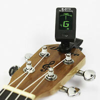 1X LCD Clip-on Electronic Digital Guitar Tuner For Chromatic Bass Ukulele Violin