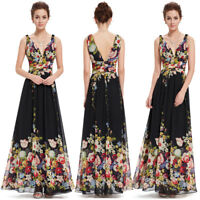 Ever-Pretty Long Chiffon Printed Wedding Dresses Formal Evening Party Gown 9016