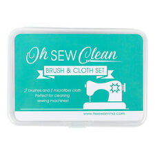 Oh Sew Clean Brush & Cloth Set for cleaning sewing machines 2 brushes & 1 cloth