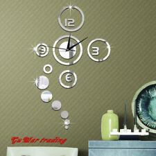 3D Spiegel Wanduhr Uhr zum Kleben modern Home Decor Wandtattoo