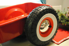 custom radio flyer wagon, custom wagon, wheels tires, white walls, moon caps