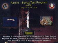Apollo-Soyuz Gold Kapton Foil Flown in Space - Plus Exciting Extras! With COA