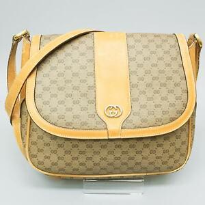 GUCCI Micro GG Pattern PVC Canvas Leather Shoulder Bag Purse 001 115 0914 JUNK
