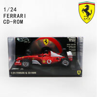 1/24 Mattel MICHAEL SCHUMACHER 1# Ferrari CD-ROM Formula 1 F1 Car Model