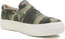 Soda Flat Women Shoes Slip On Loafers Casual Sneakers Khaki Camouflage HIKE-G