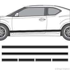 Scion tC or FR-S Rocker Panel Racing Stripes 3M Vinyl Decal Kit