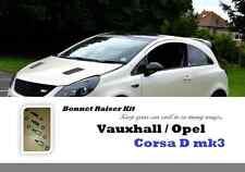 16 Piece set Vauxhall Opel Corsa mk3 mk4 D E bonnet hood spacers raisers lifters