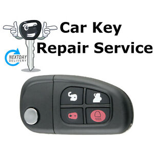 Jaguar X Type S Type Jag Flip Key Fob Remote Repair Service + Rubber Button Pad