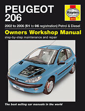 Haynes Workshop Manual for Peugeot 206 Petrol & Diesel (02-06)