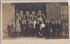 Pennsylvania Pa Real Photo RPPC Postcard 1909 ELLWOOD CITY Church Group?