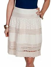Scully Western Skirt Womens Size L Honey Creek Knee-Length Ivory HC210 $42.68