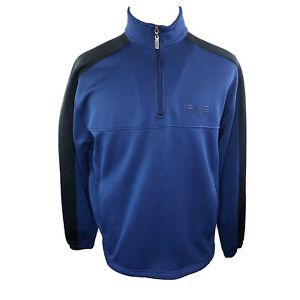 Ping Performance Dynamics Blue Black Golf 1/2 Zip waist-cinch Men's Size Large L