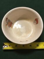 SUPER RARE Raggedy Ann and Andy Bowl 1941 By Crooksville Porcelain Gold Trim