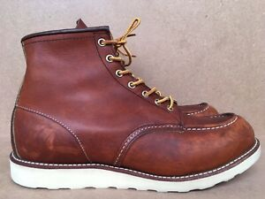 Red Wing Heritage 875 Oro Legacy Moc Leather Boots Sz UK 12 || USA 13 E
