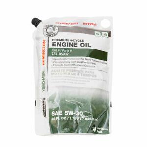 MTD Premium 4 Cycle Snowthrower Oil, SAE 5W30, 28 oz 490-000-M020 GENUINE