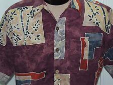 Men's MED The Territory Ahead Short Sleeve Shirt 100% Cotton Multi-color BATIK