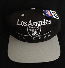 Vtg 80's NFL Los Angeles Raiders SnapBack Hat NWT NWA Eastport Split Bar Easy E