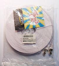 Cable RJ45 Cat7 plat de 20M avec clips de fixation