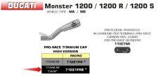 SILENCIEUX ARROW PRO-RACE TITANE DARK DUCATI MONSTER 1200 / R / S 2016 / 2020